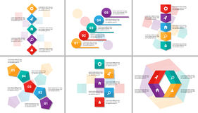 Abstract colorful Infographic elements presentation template flat design set for brochure flyer leaflet marketing Stock Image