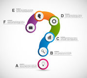 Abstract colorful infographic in the form of question mark. Design elements. Stock Photos