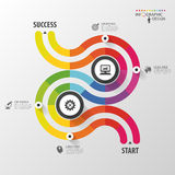 Abstract colorful infographic template. Vector illustration.  Stock Photography