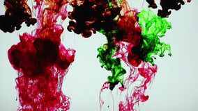 Abstract Colorful Ink in Underwater stock video footage