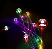 Abstract colorful Internet icons Royalty Free Stock Photo
