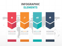 Abstract colorful label business Infographics elements, presenta Stock Images