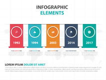 Free Abstract Colorful Label Business Timeline Infographics Elements, Presentation Template Flat Design Vector Illustration For Web Stock Photography - 89450312
