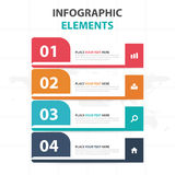 Abstract colorful label business timeline Infographics elements, presentation template flat design vector illustration for web Stock Image