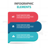 Abstract colorful label business timeline Infographics elements, presentation template flat design vector illustration for web Royalty Free Stock Photos