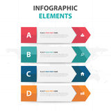 Abstract colorful label business timeline Infographics elements, presentation template flat design vector illustration for web. Design marketing advertising Royalty Free Stock Photos