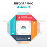 Abstract colorful label square business Infographics elements, presentation template flat design vector illustration for web. Design marketing advertising royalty free illustration