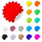 Abstract colorful labels Stock Image