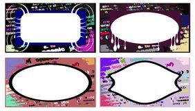 Abstract colorful labels set Royalty Free Stock Photos