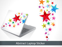 Abstract colorful laptop sticker Royalty Free Stock Images