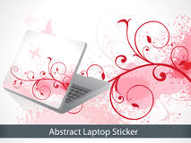 Abstract colorful laptop sticker Stock Image