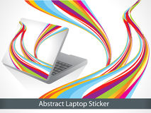 Abstract colorful laptop sticker Stock Photo