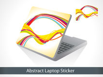 Abstract colorful laptop sticker Stock Photos