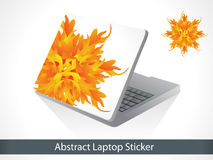 Abstract colorful laptop sticker Royalty Free Stock Image