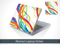 Abstract colorful laptop sticker Royalty Free Stock Photo
