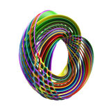 Abstract colorful layered torus isolated on white. Background vector illustration