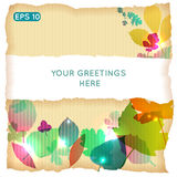 Abstract colorful leafs vector background Stock Image