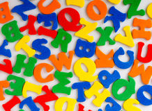 Abstract colorful letters Stock Photography
