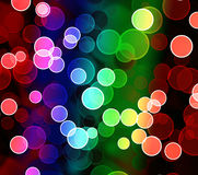 Abstract colorful light border Stock Images