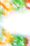 Abstract colorful light border Royalty Free Stock Photo