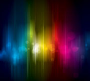 Colorful Background. Abstract colorful light on dark background Stock Photos