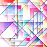 Abstract colorful light geometric background. Abstract light geometric background with colored elements Royalty Free Stock Photos
