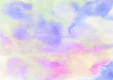 Abstract colorful light painted watercolor stain Stock Photos