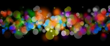 Abstract colorful lights on black background. Beautiful Abstract colorful lights on black background royalty free illustration