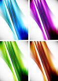 Abstract colorful line background set Stock Image