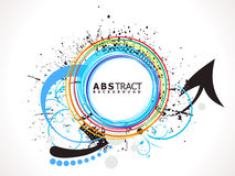 Abstract colorful line circle splash Royalty Free Stock Image