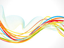 Abstract colorful line wave background. Vector illustration vector illustration