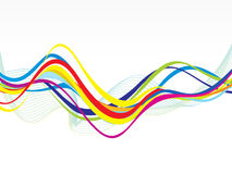 Abstract colorful line wave background Royalty Free Stock Photo
