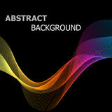 Abstract colorful line wave on black background. Stock vector Stock Images