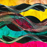 Abstract colorful line wave  illustration Stock Image