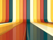 Abstract colorful lines background. 3d render Royalty Free Stock Photo