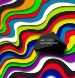 Abstract colorful lines background Royalty Free Stock Image