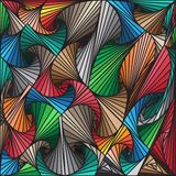 Abstract colorful lines drawn patterns background, vector design Stock Photos