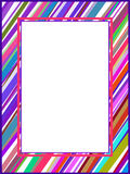 Abstract colorful lines frame. Retro illustration Royalty Free Stock Photo