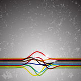 Abstract colorful lines on grunge background Stock Photo