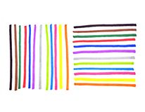 Abstract colorful lines on white. Background for design Royalty Free Stock Photos