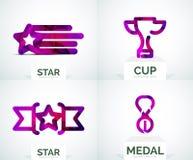 Abstract colorful logo design Royalty Free Stock Photos