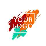 Abstract colorful logo template concept Royalty Free Stock Photography
