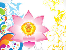 Abstract colorful lotus background Stock Image
