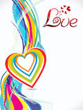 Abstract colorful love wave background Stock Image
