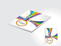 Abstract colorful magazine cover design Stock Images