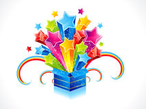 Abstract colorful magic box with star Stock Photography