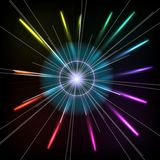 Abstract Colorful Magic Glow Ray Lights. Vector Stock Photos