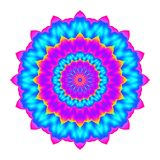 Abstract colorful mandala. Flower isolated on white background. Multicolor bloom. Esoteric petal mandala. Stock Photos