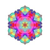 Abstract colorful mandala, Flower isolated on white background, Multicolor bloom, Esoteric petal mandala. Abstract multicolor mandala, Flower isolated on white Stock Photos