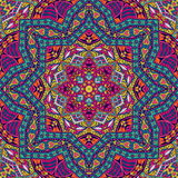 Abstract colorful mandala pattern ornamental. Abstract Tribal vintage ethnic seamless pattern ornamental Royalty Free Stock Photography